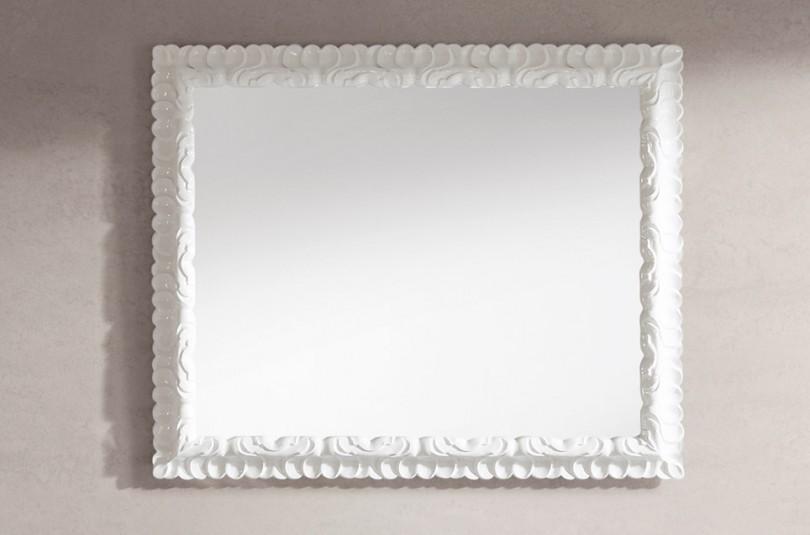 Espejos con marco blanco espejo plata x with espejos con for Espejo blanco envejecido
