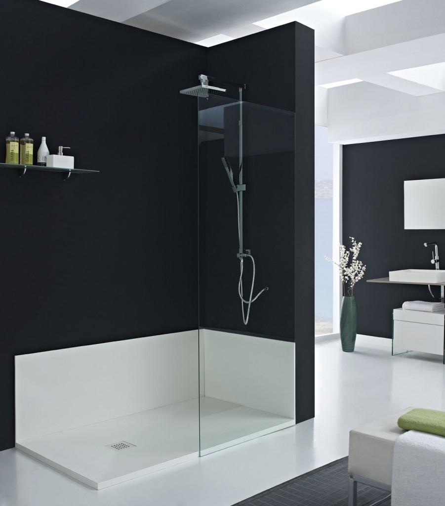 Baos modernos con plato de ducha baos con plato de ducha for Paneles revestimiento ducha