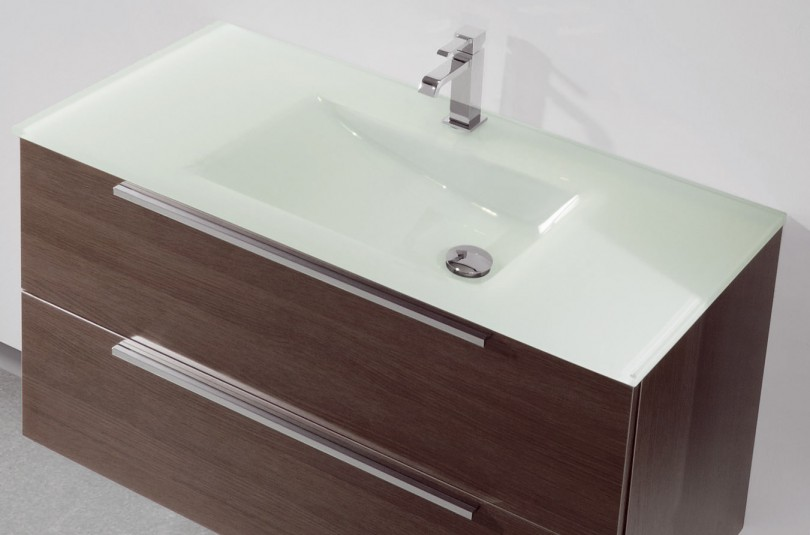 lavabo de cristal blanco vidrebany